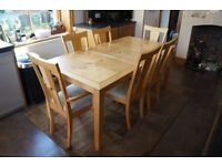 Dining table + 6 chairs