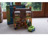 Happyland Thatched Cottage - with all accessories in set and boxed. Excellent Condition