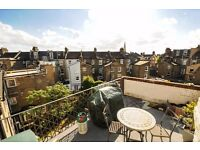 A BEAUTIFULLY PRESENTED TWO BEDROOM TWO BATHROOM FLAT WITH PRIVATE ROOF TERRACE ON STRATHBLAINE ROAD