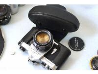 pentax sp 35mm slr 50mm f1.4 super takumar manual analog film camera