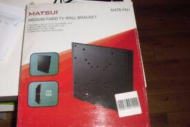 "BRAND NEW IN BOX ""MATSUI"" MEDIUM FIXED TV WALL BRACKET"