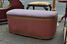 vintage loom ottoman / blanket chest