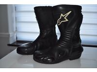 Alpinestars smx motorcycle boots size uk 11 euro 47 motorbike racing black