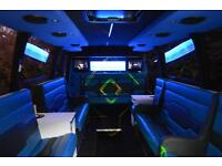 LIMO SUPER 20 SEAT PARTY BUS FOR HIRE