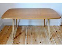 Vintage Retro 60's Ercol Windsor Rectangular Plank Table / Desk - Excellent Condition