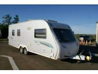 2008 Sterling Elite Explorer,Twin Axle,Fixed Island Bed, Silver Side