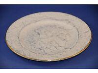 Replacement China. Vintage Gossamer Grey Marbled Side Tea Plate Royal Albert Harlequin Bone China
