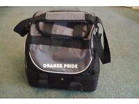 Lawn green bowling bag, Drakes Pride