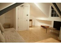 -loft studio with boat loads of character on Fulham Palace road, available now including all bills