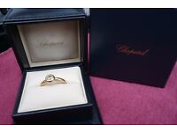 Chopard Happy Diamonds 18ct Yellow Gold Boxed with Certificate & P/Work Very Rare & Very Desirable