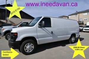 2010 Ford E-150 Full Shelving $500.00 Down