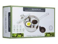 "KitchenCraft 2-Cup Egg Poacher / Sauté Pan, 16 cm (6.5"")"