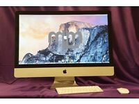 "3.06Ghz CORE 2 DUO 27"" APPLE iMac 8GB 1TB HD MS OFFICE 2016 VECTORWORKS CAPTURE ONE FINAL CUT PRO"