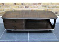 Vintage Retro 60's Ercol Windsor Minerva / Pandora Box Coffee Table / TV Unit