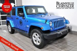 2014 Jeep Wrangler UNLIMITED SAHARA - GPS - BLUETOOTH - VEH. LOC