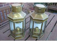 Antique Brass Ships Lanterns
