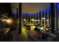 Charrington Tower one of the highest residential towers in London private lobby with concierge staff