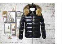 Mens Moncler Shiny Coat With Fur