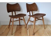 Vintage Retro 60's Ercol Butterfly Chairs x 2 - Free Local Delivery