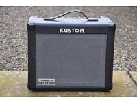 KUSTOM KGA 16R Electric Guitar Amplifier - Twin Channel/Reverb/Aux. Input/Headphone out etc.