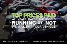SCRAP CARS , 4x4s & VANS WANTED ££CASH PAID ££