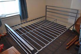 """4'6"""" metal bed frame"""