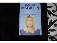 """CAROL McGIFFIN"" AUTOBIOGRAPHY ""OH CAROL"" HARDBACK BOOK"