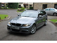 BMW 320D M SPORT FACELIFT **PAN ROOF** Bi Xenon not 330d 335d 520d audis3 a3 a4 avant s line gtd gti