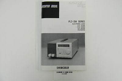 1144 Kikusui Plz-3w Series Electronic Load Operation Manual