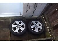 audi a4 b6 16 size alloys wheels with tyres