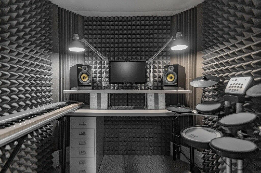 Home Recording Studio Vocal Booth Drum Room Broadcast