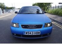 Audi S3 1.8 Turbo Quattro Matt Blue Wrap Black Leather 225 BHP 98K