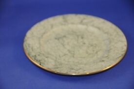 Vintage Gossamer Green Marbled Harlequin Tea Set Side Plate Royal Albert Bone China. VGUC