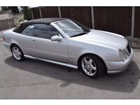 Mercedes CLK cabriolet with AMG kit