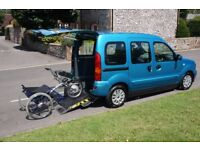 RENAULT KANGOO WHEELCHAIR ACCESSIBLE VEHICLE WAV RAMPS DRIVE FROM DISABLED CAR ONLY 14,000 MILES