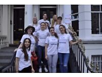 Live In Reception Intern wanted in central London hostel