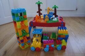 Mega blocks - 150 blocks including table at very good condition at pet-free non-smoking house