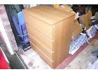 chest of draws light brown ikea