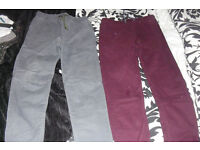 AGE 12-13 YEARS PACK OF 2 BOYS TROUSERS LIKE NEW CONDITION
