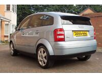 Audi A2 1.6 Petrol FSI SE 2003 Only 57k Miles, NEW CAMBELT, Climate/Air Con/CD Crystal Blue.