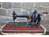vintage hand crank bradbury sewing machine