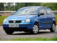 2003 Volkswagen Polo 1.2 E 3dr+FULL SERVICE HISTORY+12 MONTHS MOT+CHEAP TO RUN