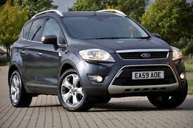 2009 Ford Kuga 2.0 TDCi Titanium+DIESEL4x4+MPV+LEATHER+1 FORMER KEEPER+FULL FORD SERVICE HISTORY