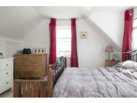 This room is nice & bright, it has plenty of built in bookcases,