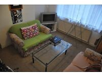 Large fully furnished double room available sharing with professionals