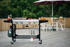 BBQ 4 Burner Gas Propane Grill Griddle Combo  Foldable - brand new - FREE SHIPPING