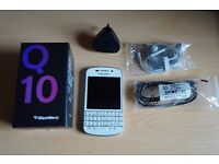 Blackberry Q10 White, comes with accessories. Good condition!!
