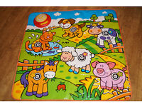 Musical Baby Playmat with Animals and Farm Activity