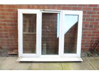 "Used, 3panel, double glazed window; 52.5"" wide x 41"" high"