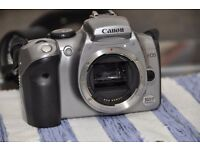 Canon 300D with three batteries and 4 CF memory cards